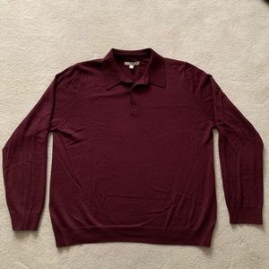 Nordstrom Wine Collared Sweater